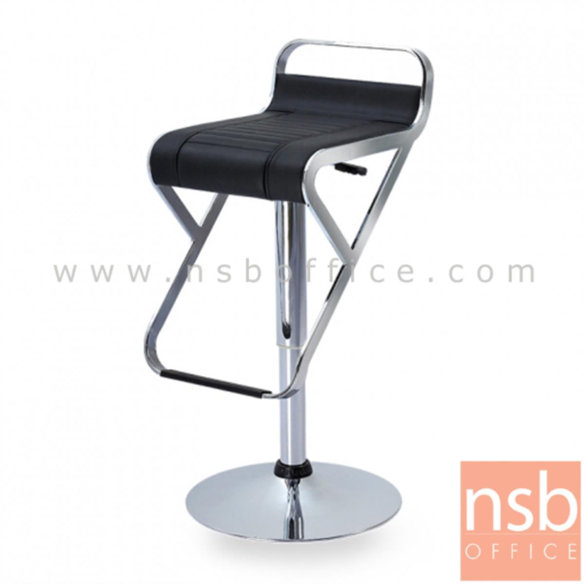 B09A155:เก้าอี้บาร์สูงหนังเทียม รุ่น Janith (เจนิธ) ขนาด 35.8W cm. ขาโครเมี่ยมฐานจานกลม