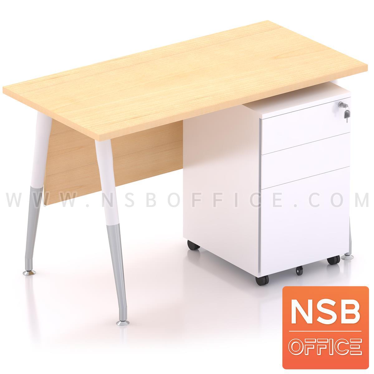 โต๊ะทำงานพร้อมลิ้นชักเหล็กล้อเลื่อน รุ่น Plantnery 2 (แพลนเนอรี่ 2) ขนาด 120W cm. มีบังตา ขาเหล็ก
