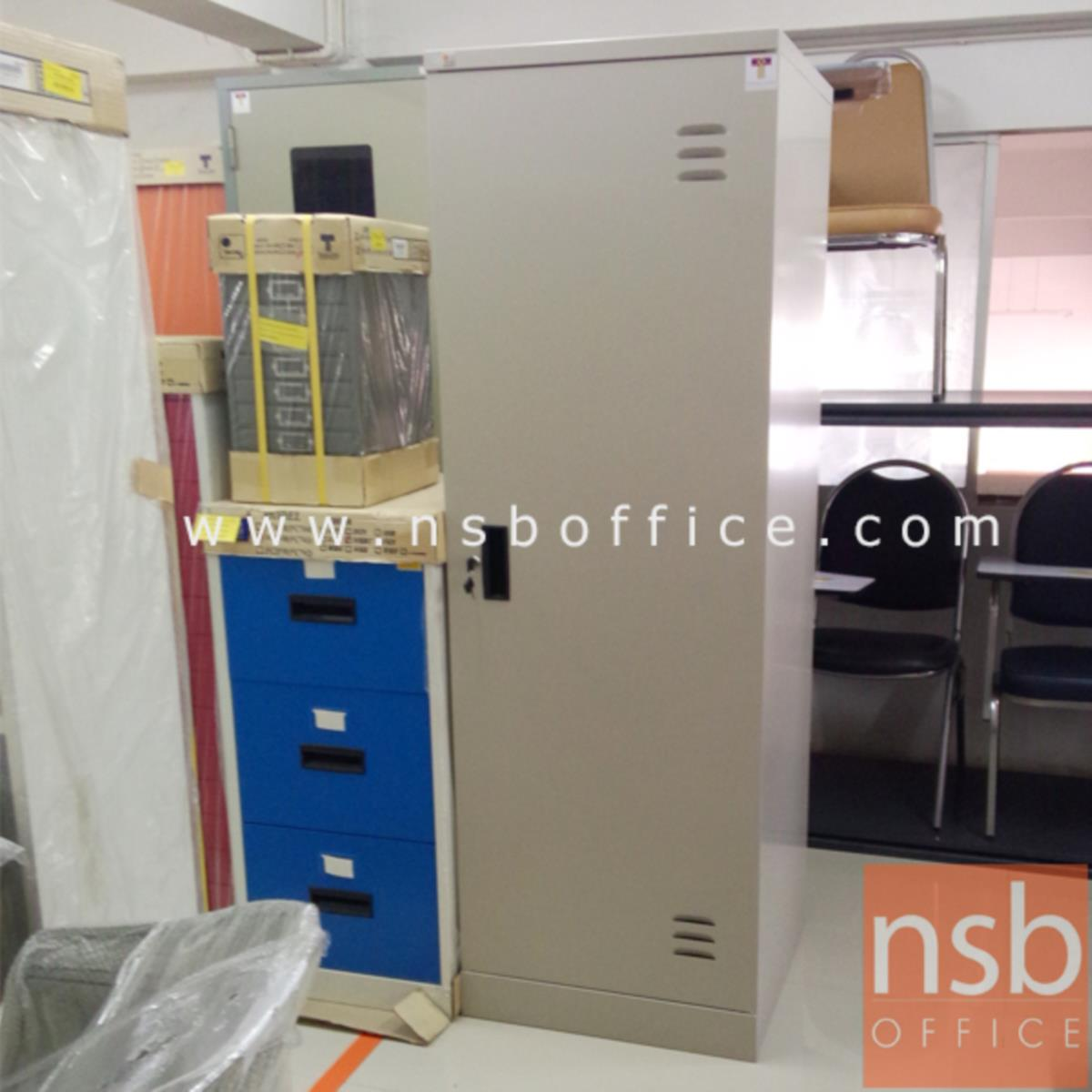 ตู้เสื้อผ้าเหล็ก 1 บานเปิดเดี่ยว 60W*60D*180H cm (มีกระจกด้านใน) รุ่น WD72RWK