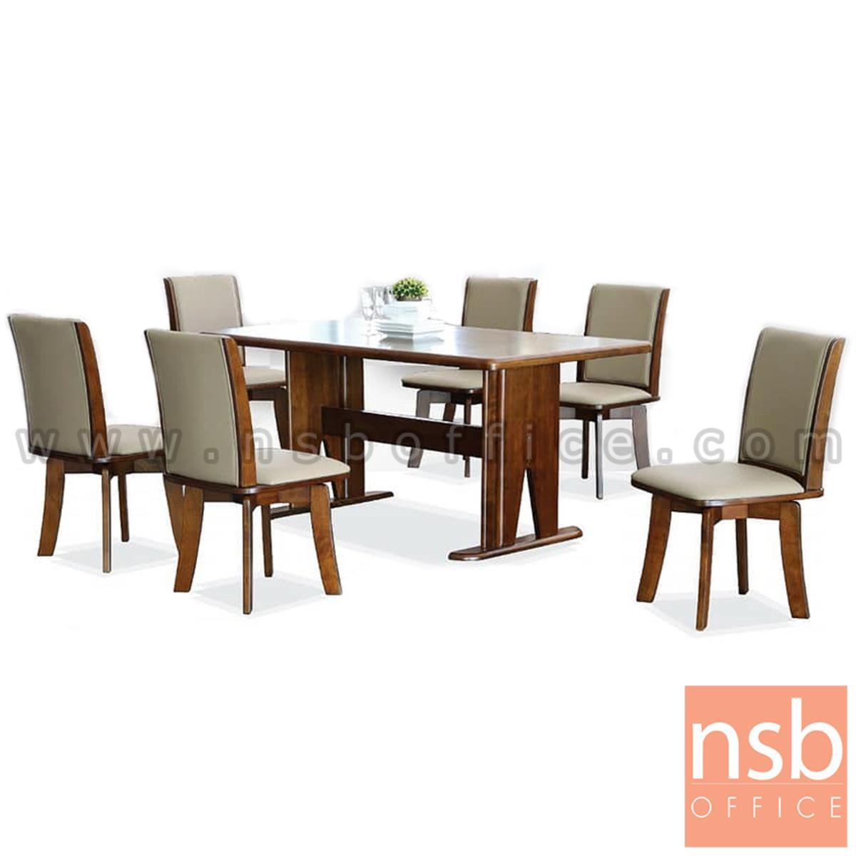 G14A235:ชุดโต๊ะรับประทานอาหาร ไม้ยางพารา  รุ่น Winsley (วินส์ลีย์) 6 ที่นั่ง พร้อมเก้าอี้