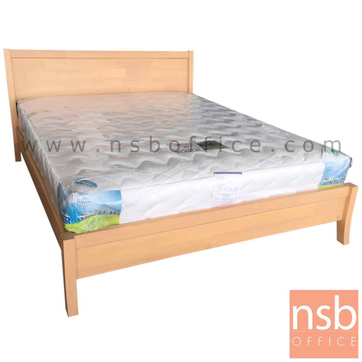 L10A168:เตียงนอนไม้ยางพาราล้วน  ขนาด 163W*90H cm. สีบีช