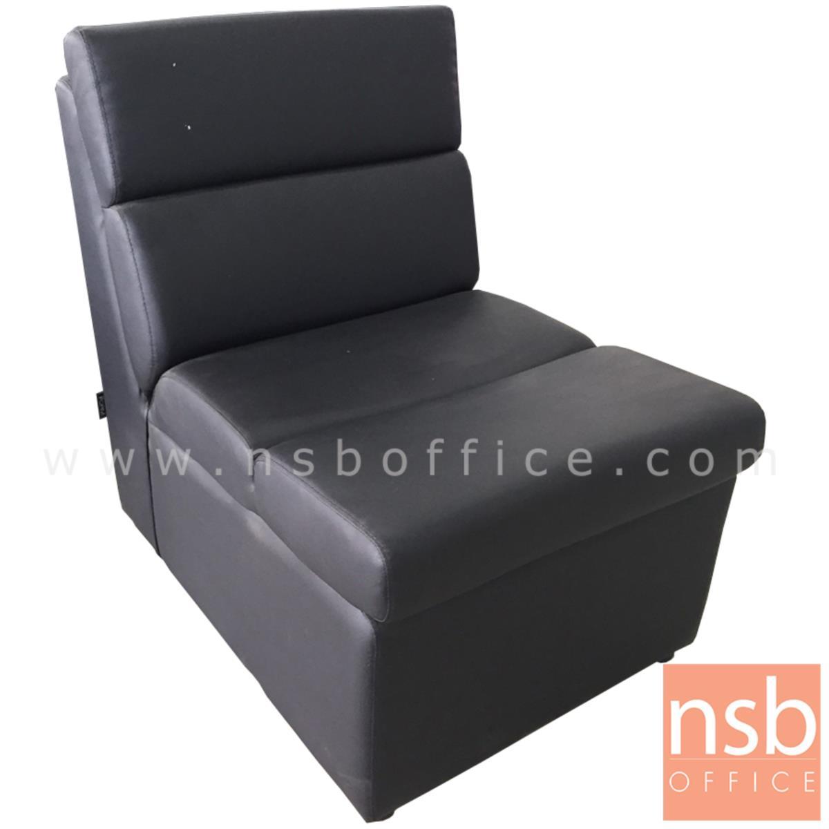 โซฟาหนังเทียม 1 ที่นั่ง  ขนาด 56W*80H cm. สีน้ำตาล (stock 4 ตัว)