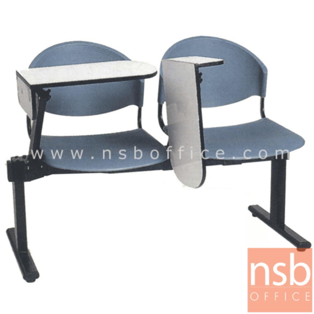 เก้าอี้เลคเชอร์แถวเฟรมโพลี่ รุ่น D190NC  2 ,3 และ 4 ที่นั่ง ขาเหล็กเหลี่ยมพ่นดำ