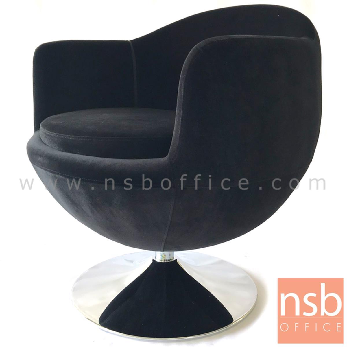 B15A047:เก้าอี้โมเดิร์นหุ้มผ้า รุ่น velvet (เวลเวท)  โครงขาจานเหล็กชุบโครเมี่ยม