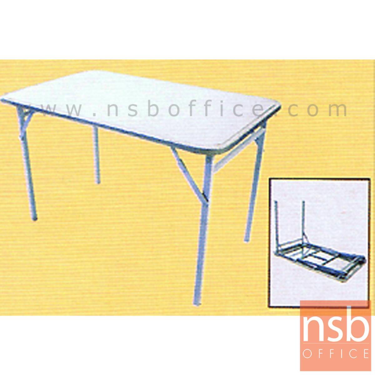 A08A008:โต๊ะพับหน้าสเตนเลส  ขนาด 3.5-4 ฟุต 105W ,116.5 cm.  ขาซ่อน
