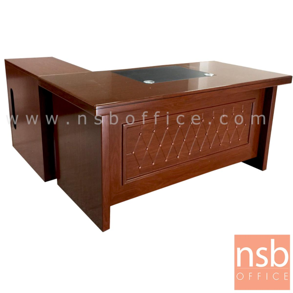 A06A138:โต๊ะผู้บริหารตัวแอล รุ่น HAMBURG (ฮัมบวร์ก) ขนาด 160W cm. พร้อมตู้ข้าง