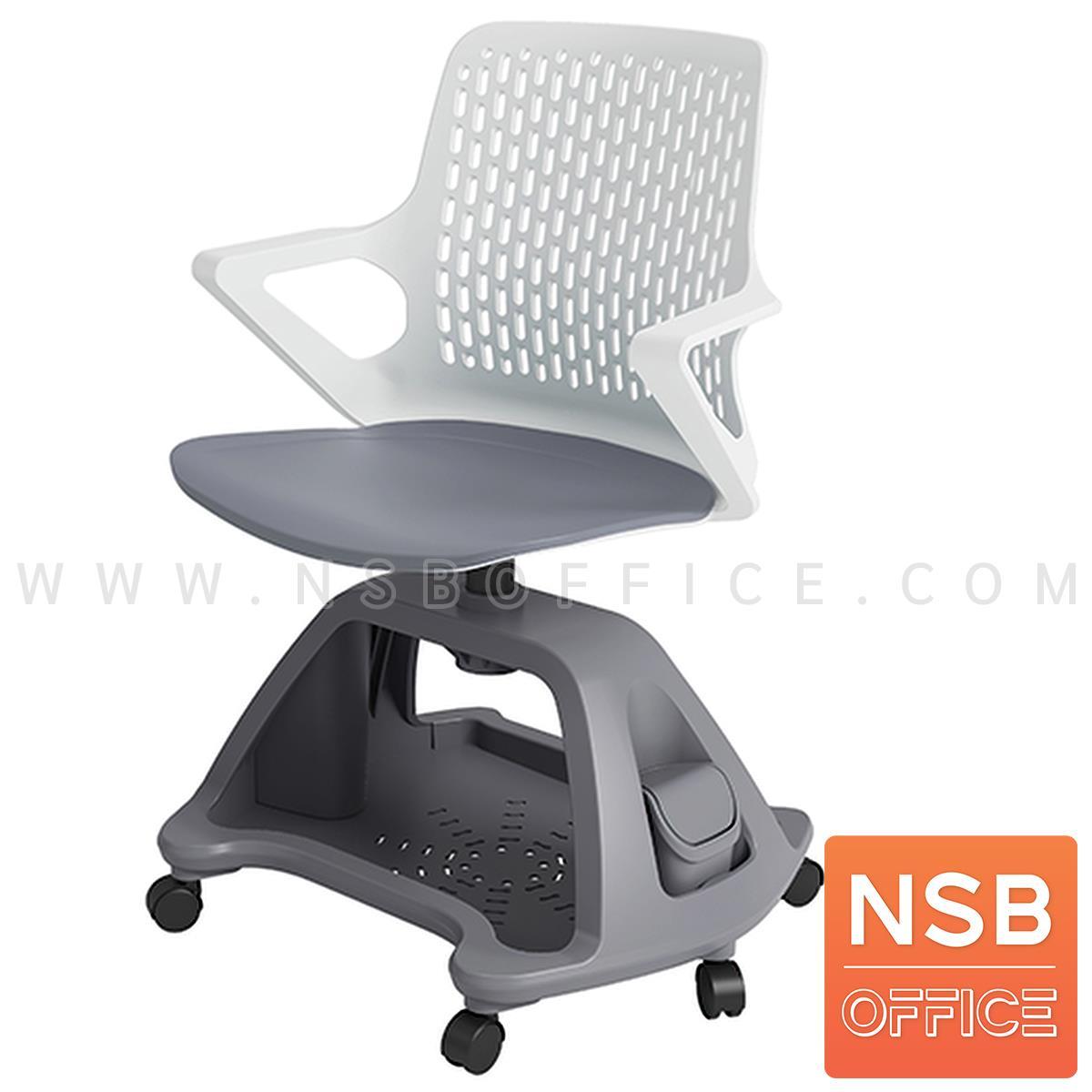 B07A101:เก้าอี้โพลี่ล้อเลื่อน  รุ่น Aloe ll  วางกระเป๋าได้