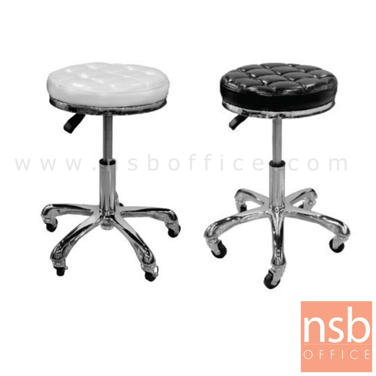 B09A213:เก้าอี้โมเดิร์น รุ่น Gabriel (เกเบรียล)   ขาโครเมี่ยมล้อเลื่อน