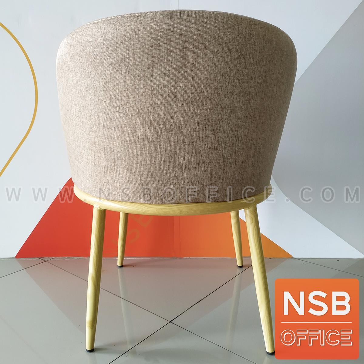 เก้าอี้โมเดิร์นหุ้มผ้า รุ่น fabbrick (แฟ็บบริค)  ขาไม้