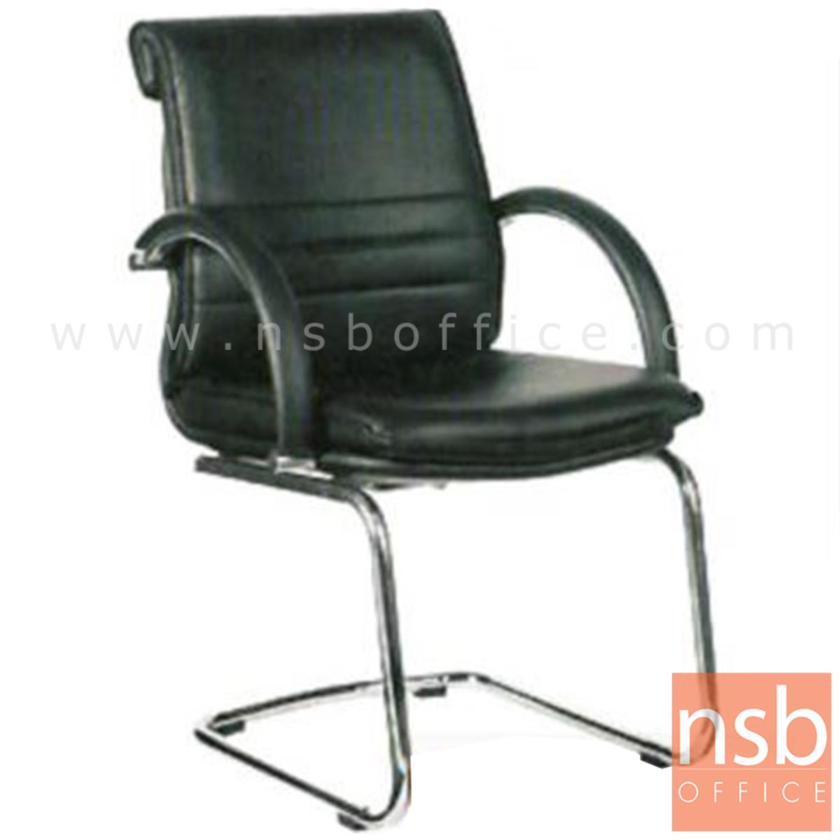 B04A105:เก้าอี้รับแขกขาตัวซี รุ่น Trene (ทรีน)  ขาเหล็กชุบโครเมี่ยม
