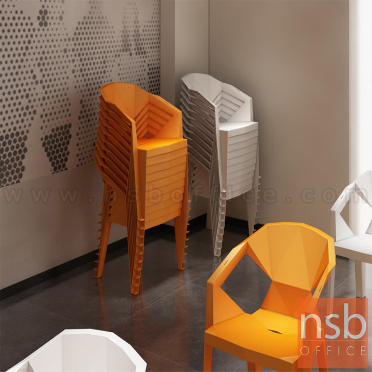 เก้าอี้โมเดิร์นพลาสติกล้วน รุ่น Renton (เรนตัน) ขนาด 57W cm.
