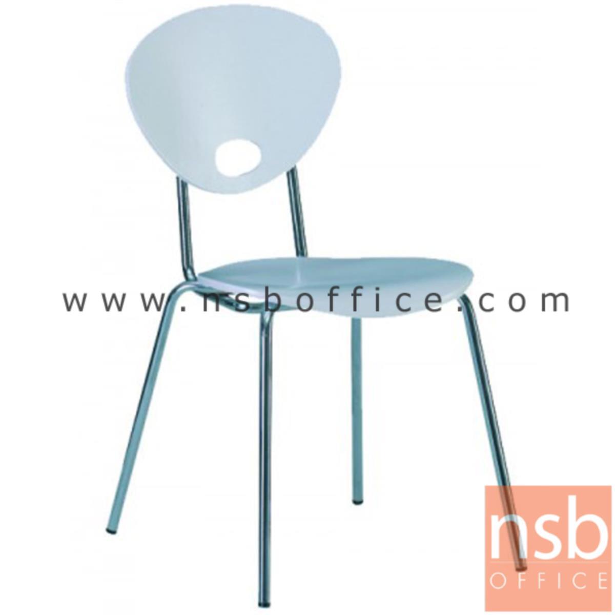 เก้าอี้อเนกประสงค์ไม้วีเนียร์ดัด รุ่น Chandler (แชนด์เลอร์)  ขาเหล็กชุบโครเมี่ยม