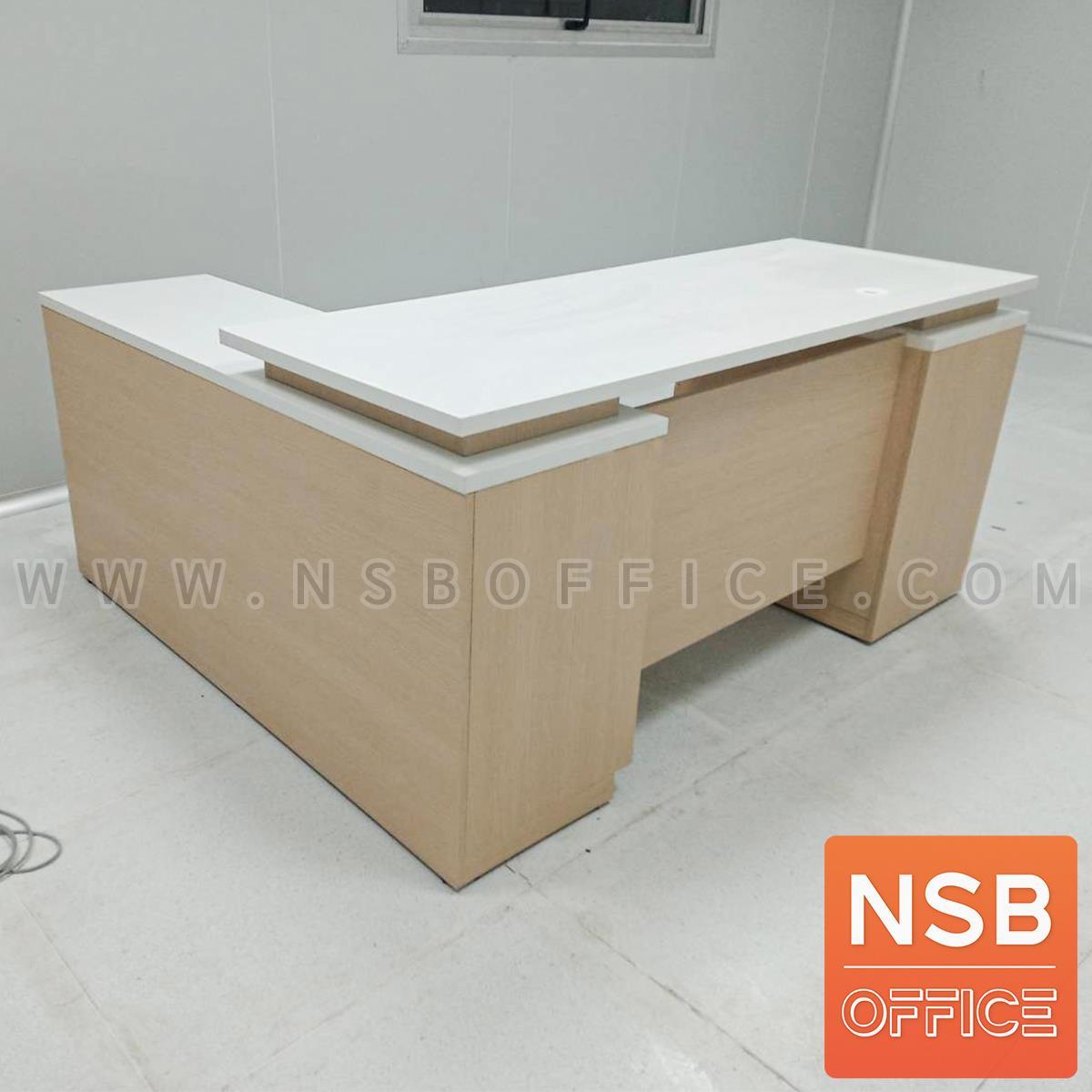 โต๊ะทำงานตัวแอล (สต็อก 5 ตัวเฉพาะแอลขวา) รุ่น Downlight (ดาวน์ไลท์) ขนาด 160W*160D*75H cm.  เมลามีน