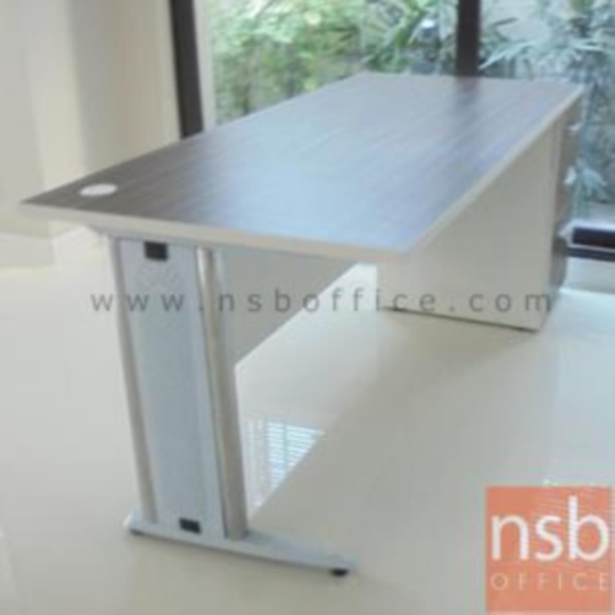 โต๊ะทำงาน 3 ลิ้นชักข้างขาทึบ รุ่น Eterna (อีเทอร์นา) ขนาด 120W ,135W ,150W ,180W cm.  ขาเหล็กตัวแอล