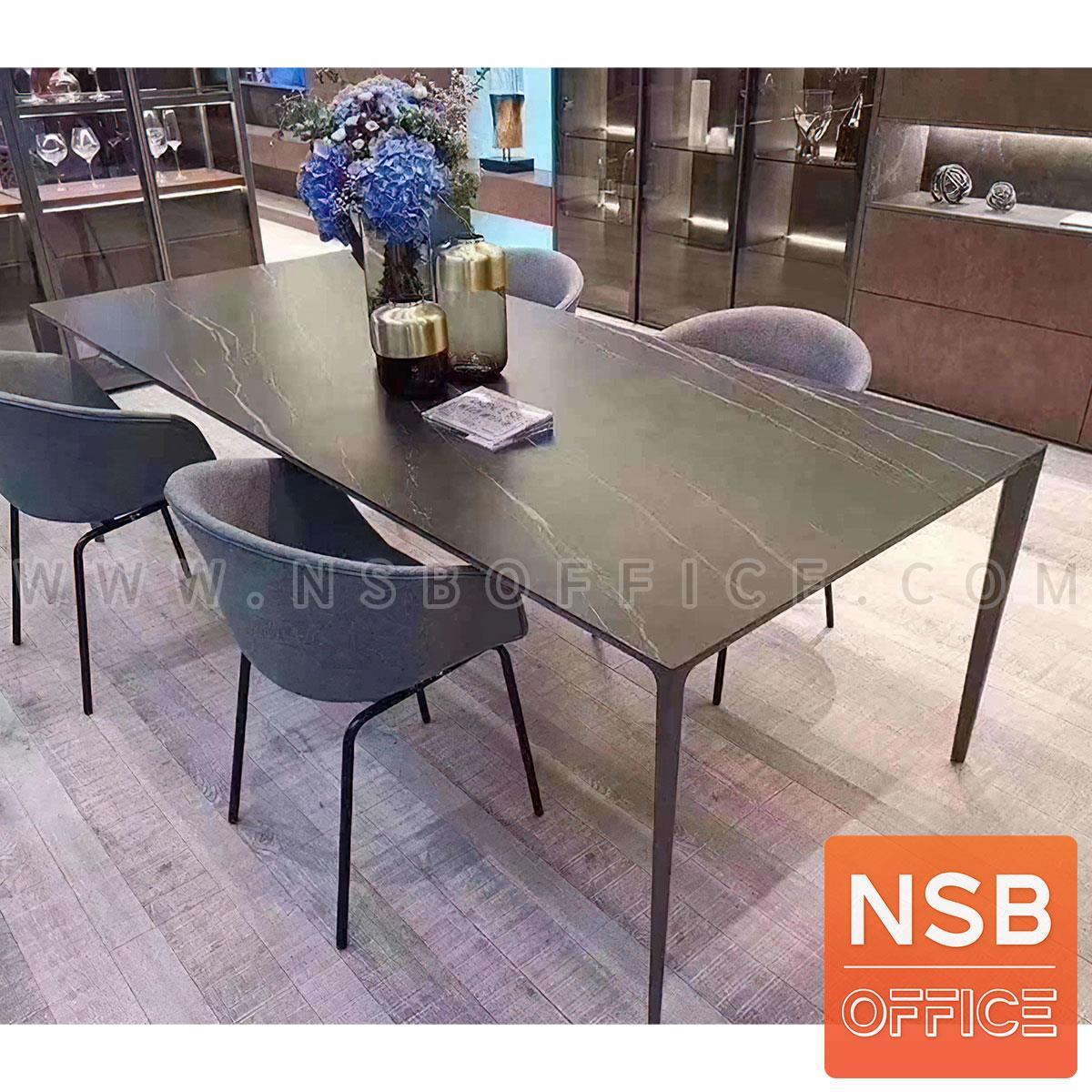 โต๊ะทรงสี่เหลี่ยม รุ่น Flexcil (เฟล็กซิล) ขนาด 240W*120D cm. ขาเหล็กสีเทาเข้ม