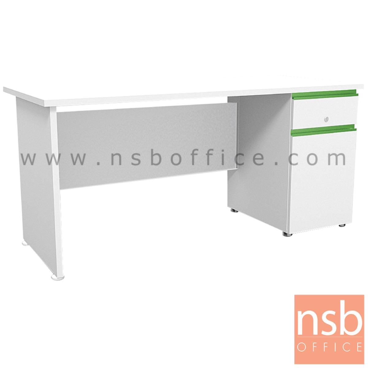 A20A030:โต๊ะทำงานสีสัน 1 ลิ้นชัก 1 บานเปิด  รุ่น Nexzone (เน็กซ์โซน) ขนาด 120W ,155W cm. มือจับรางอลูมินั่ม