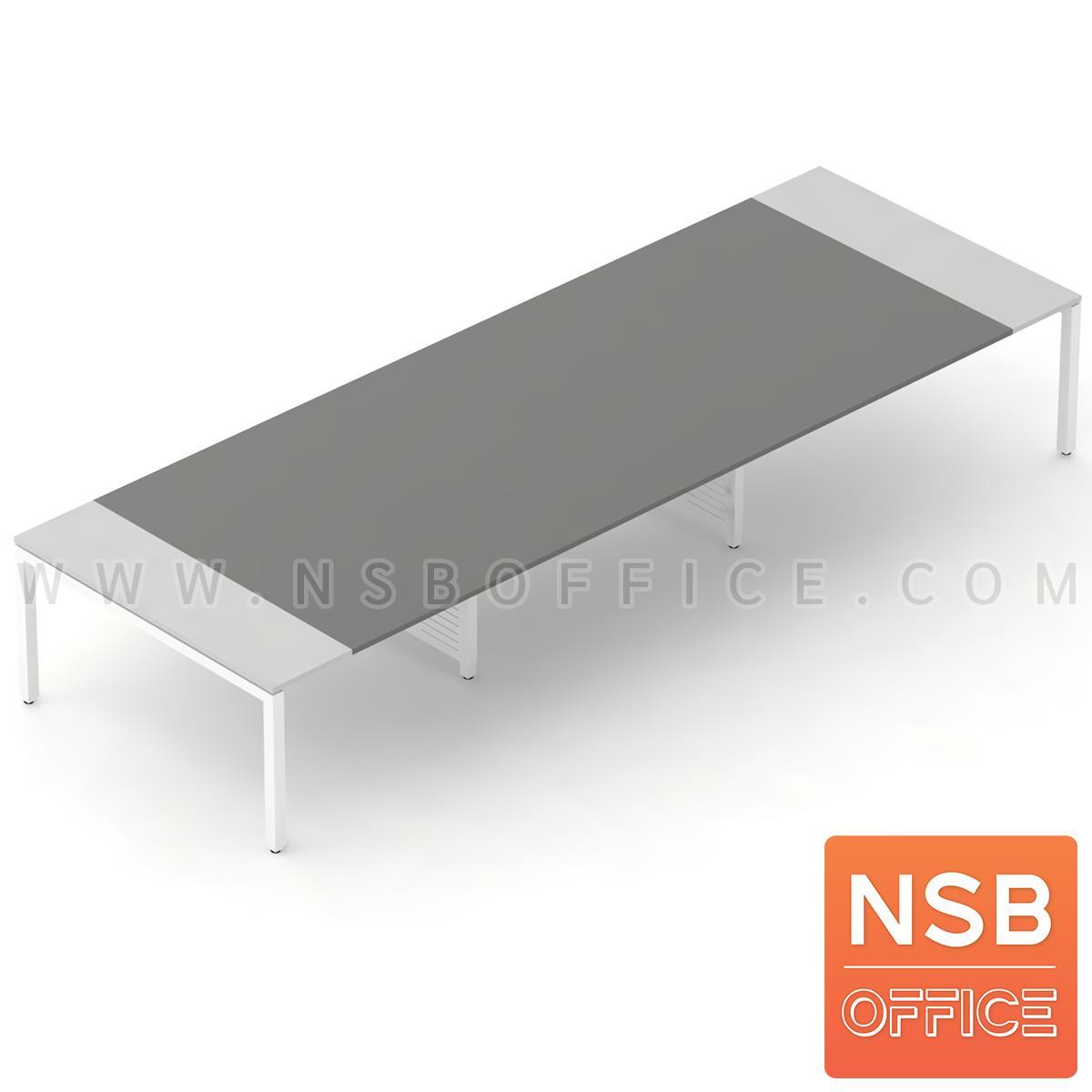 A05A087:โต๊ะประชุมทรงสี่เหลี่ยม 180D cm. รุ่น CONNEXX-081   ขากลางมีกล่องร้อยสายไฟ