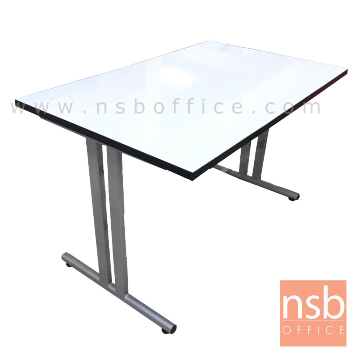 โต๊ะประชุมหน้าโฟเมก้าขาว รุ่น thatch (แธช)  โครงขาถอดประกอบได้