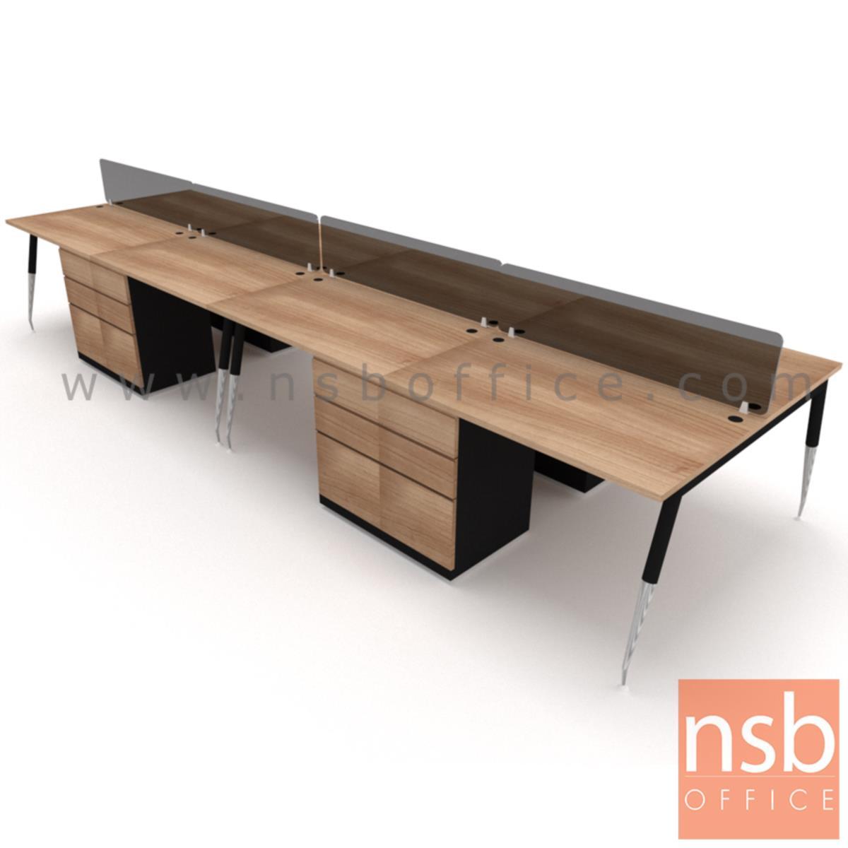 ชุดโต๊ะทำงานกลุ่ม   2 ,4 ,6 ,8 ที่นั่ง พร้อมลิ้นชัก 3 ลิ้นชัก ขาปลายเรียว