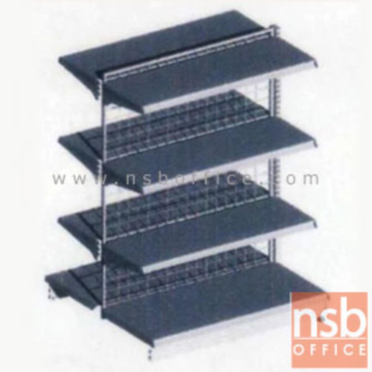 ชั้นเหล็กซุปเปอร์มาร์เก็ต สูง 150 cm. หนา 0.5 mm. 2 หน้า 4+4 แผ่นชั้น รุ่น CK-F2 แบบตัวตั้งและตัวต่อ