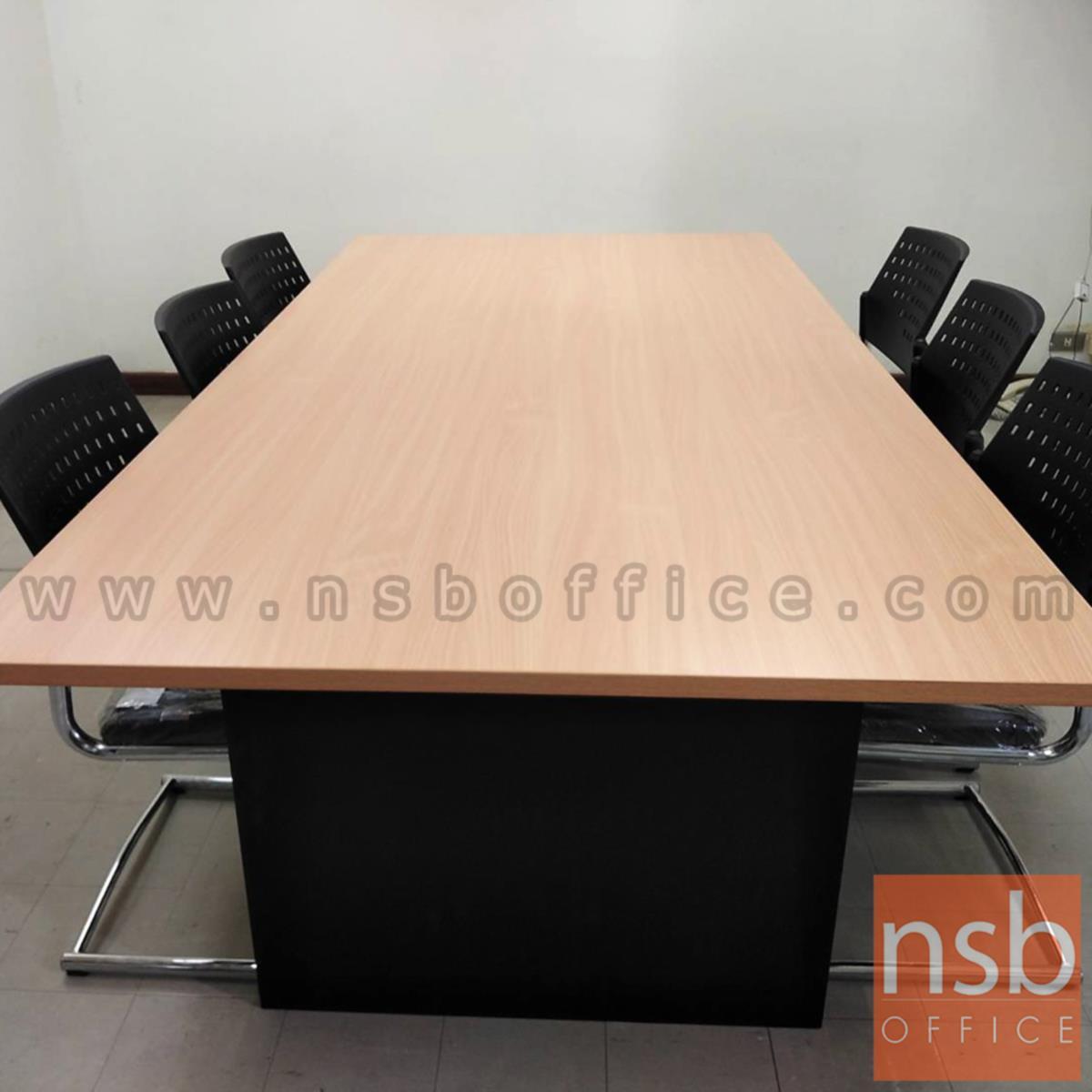 โต๊ะประชุมทรงสี่เหลี่ยม  รุ่น Seaton (ซีตัน) 6 ,8 ,10 ที่นั่ง ขนาด 165W ,180W ,200W ,240W cm.  เมลามีน