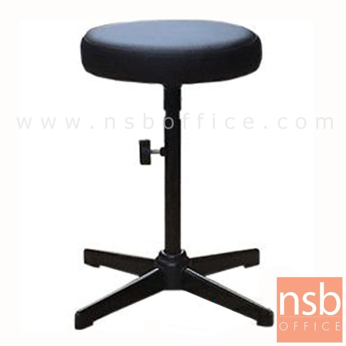 B09A069:เก้าอี้บาร์สตูลที่นั่งกลม รุ่น Norabel (นอร่าเบล)  ขาเหล็กพ่นดำ 4 แฉก
