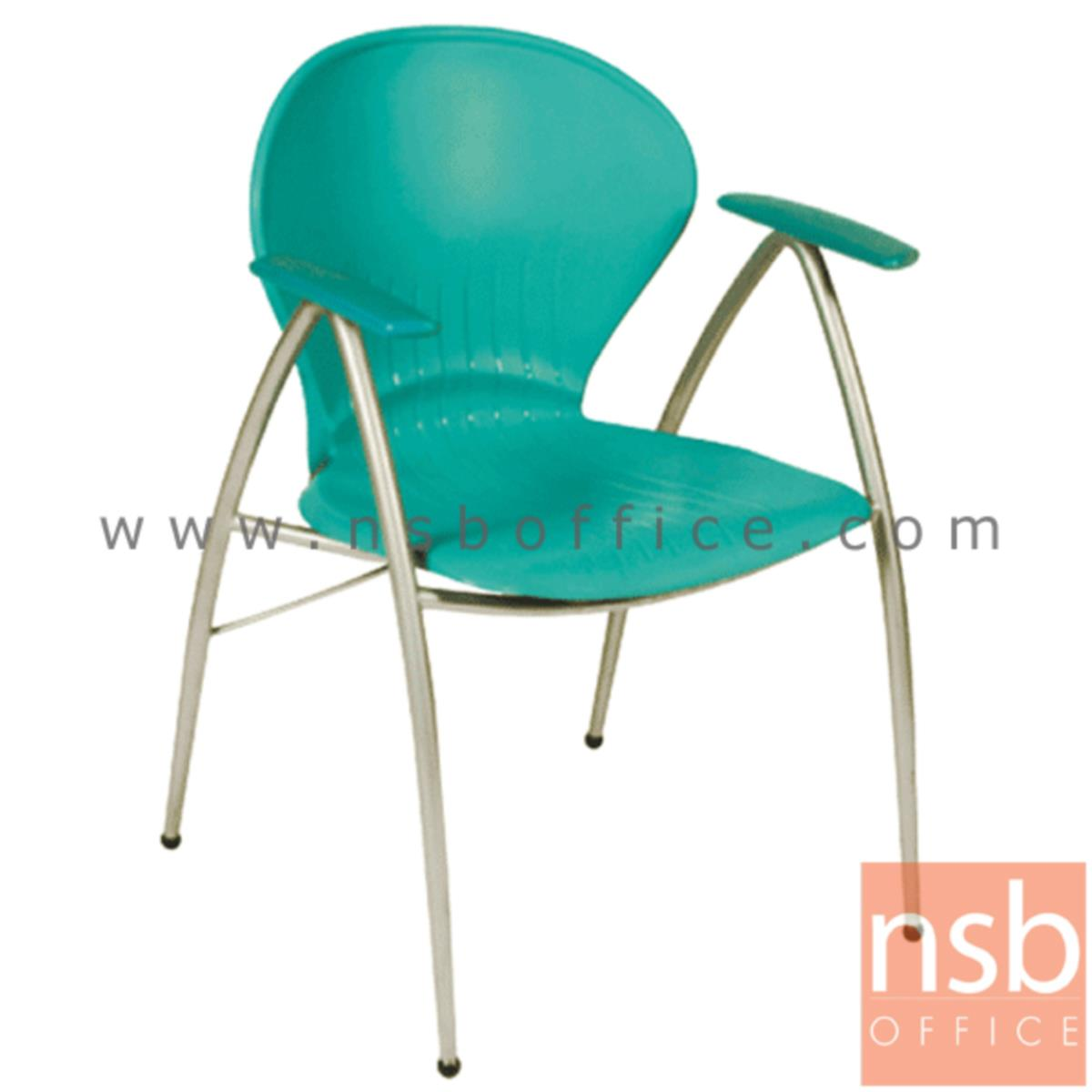 B05A070:เก้าอี้อเนกประสงค์เฟรมโพลี่ รุ่น A766-166  ขาเหล็กพ่นสีเทา