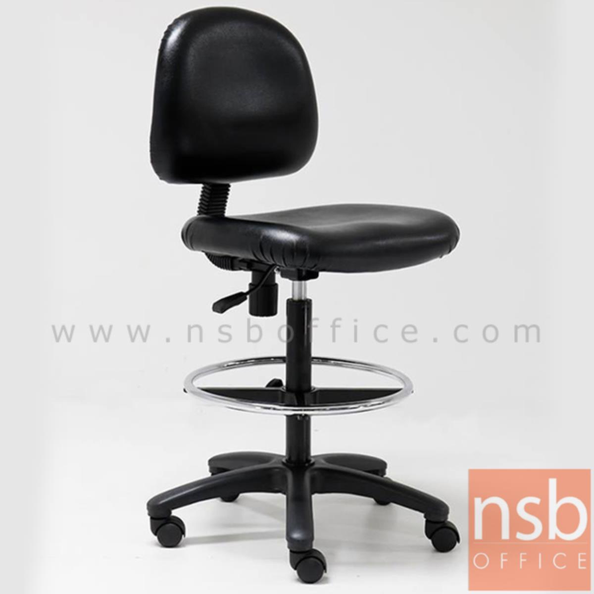 B09A081:เก้าอี้บาร์ที่นั่งเหลี่ยมล้อเลื่อน รุ่น Leuyer (ลอเยอร์)  โช๊คแก๊ส ขาพลาสติกแบบตัน