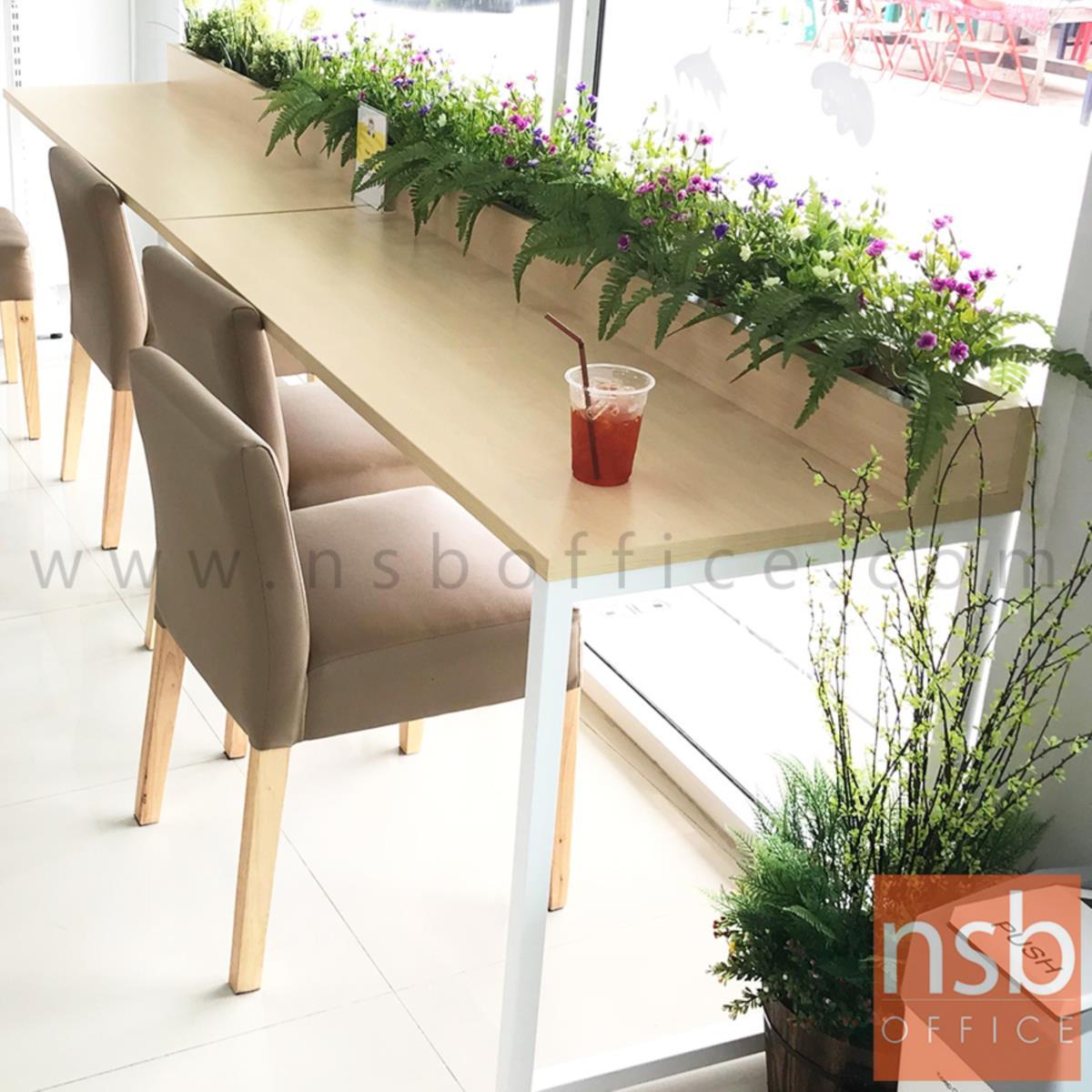 โต๊ะโล่งพร้อมกล่องวางต้นไม้ 150W cm. CP-4004  ขาเหล็กทำสี