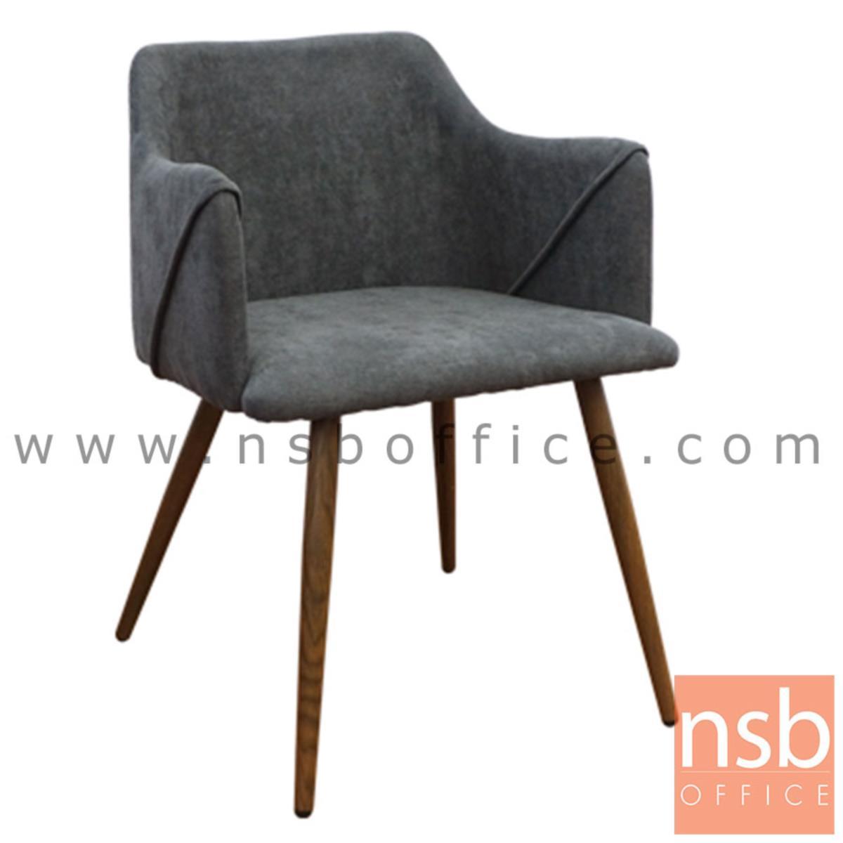 B29A356:เก้าอี้โมเดิร์นหุ้มผ้า รุ่น Florence (ฟลอเรนซ์)  ขาไม้