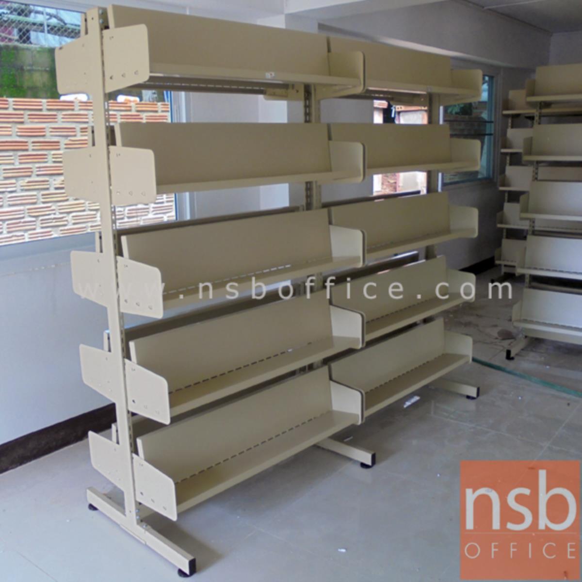 ชั้นวางวารสาร 5 ชั้น 2 ด้าน (แบบ 2 ตอน) รุ่น T-S523 ขนาด 187W cm