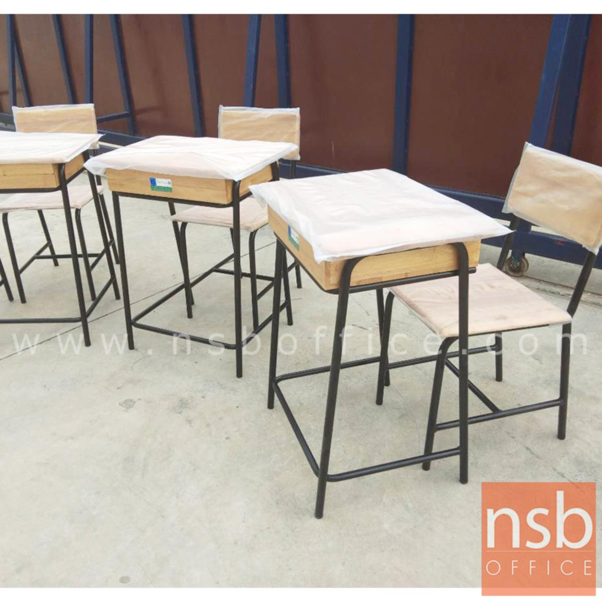 A17A032:ชุดโต๊ะและเก้าอี้นักเรียน มอก. รุ่น GEORGIA (จอร์เจีย)  ขาสีดำ ระดับประถมศึกษา