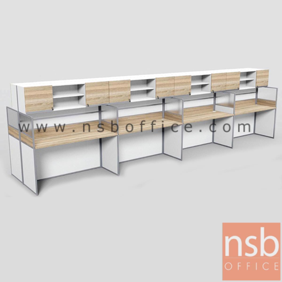 A04A197:ชุดโต๊ะทำงานกลุ่มหน้าตรง 8 ที่นั่ง รุ่น Barcadi 6 (บาร์คาดี้ 6) ขนาดรวม 490W ,610W cm. มีและไม่มีตู้แขวนเอกสาร