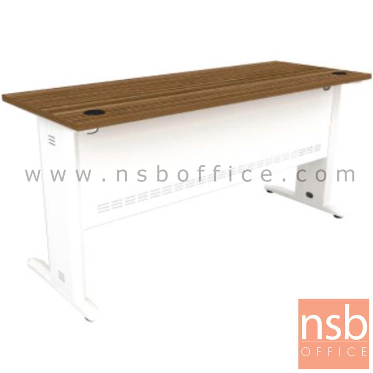 โต๊ะทำงาน รุ่น Rosie (โรซี่) ขนาด 120W ,160W cm.  สีซีบราโน่-ขาว