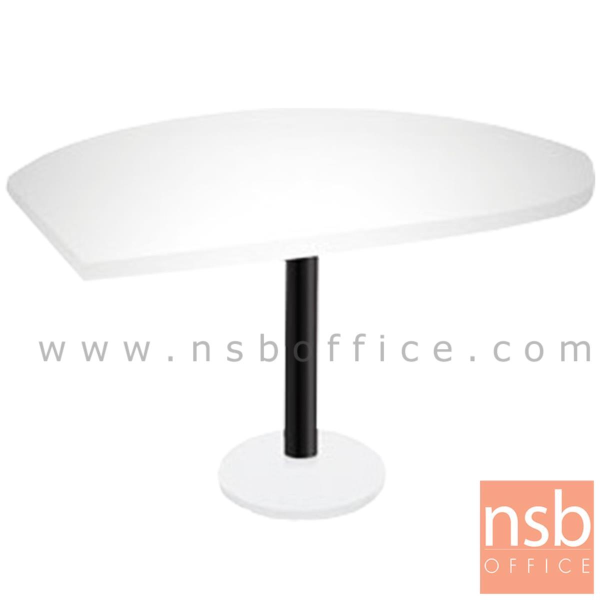 A20A022:โต๊ะเข้ามุม  รุ่น Ashford (แอชฟอร์ด) ขนาด 119.6W cm. เสาดำ พร้อมฐานรอง