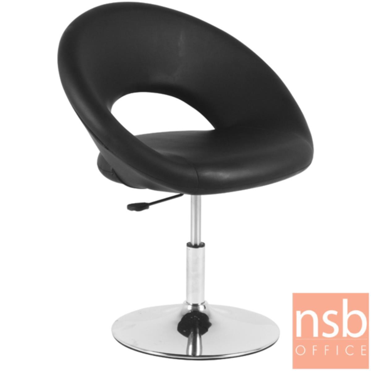B29A297:เก้าอี้โมเดิร์นหนังเทียม รุ่น GD-MIX ขนาด 73W cm. โช๊คแก๊ส โครงขาเหล็กชุบโครเมี่ยม