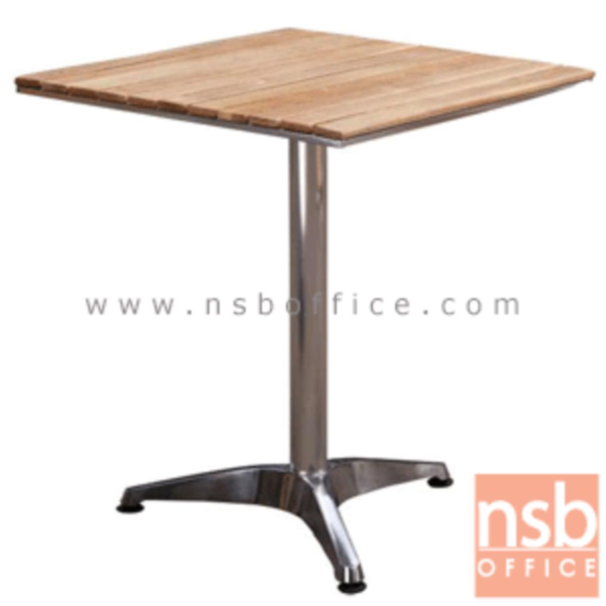 A09A081:โต๊ะบาร์หน้าไม้สน รุ่น Hudgens (ฮัดเจนส์) ขนาด 60W cm.  โครงอลูมิเนียม