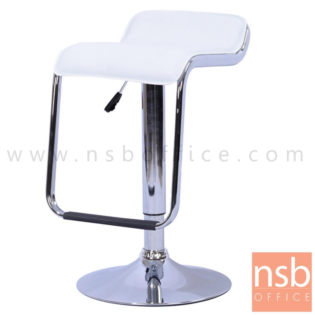 B09A115:เก้าอี้บาร์สูงหนังเทียม รุ่น Vartan (วาร์แทน) ขนาด 47W cm. โช๊คแก๊ส ขาโครเมี่ยมฐานจานกลม