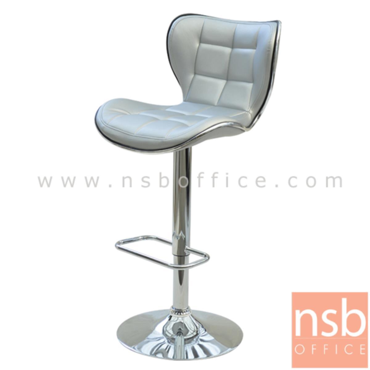 B18A057:เก้าอี้บาร์สูงหนัง PU รุ่น NP-3102 ขนาด 44W cm. โช๊คแก๊ส ขาโครเมี่ยมฐานจานกลม