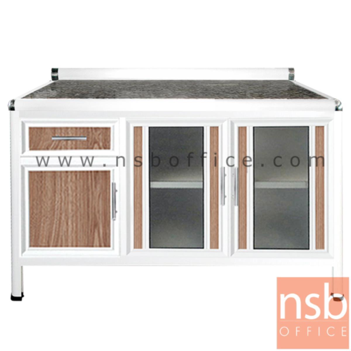 G07A129:ตู้ครัวตอนล่างอลูมิเนียมหน้าเรียบกว้าง 120 ซม
