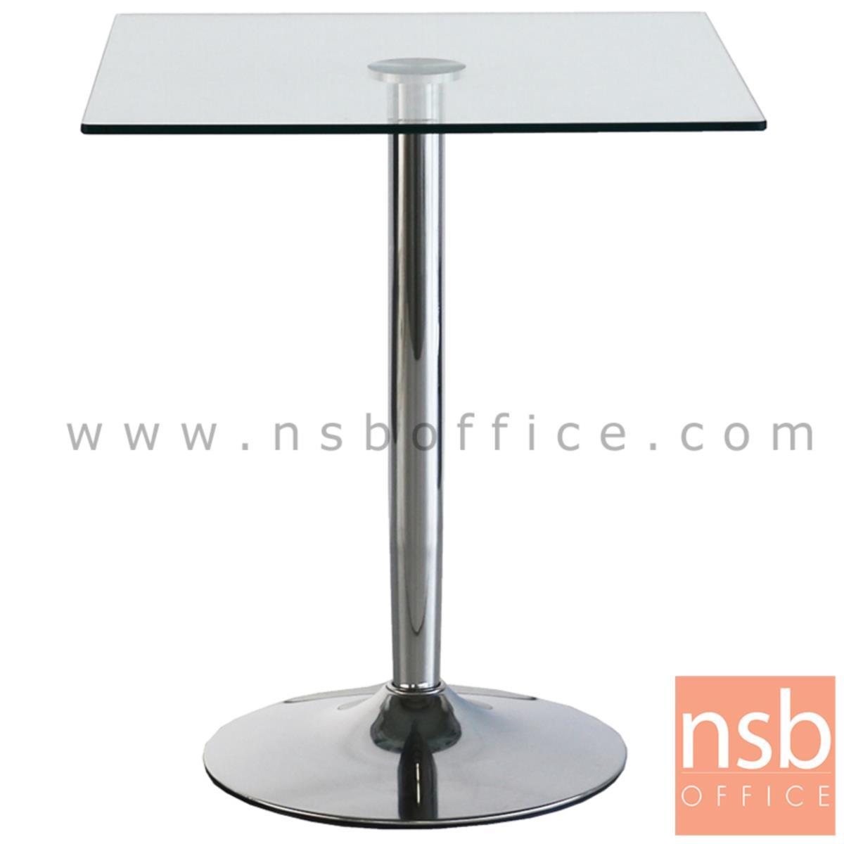 A09A135:โต๊ะเหลี่ยมหน้ากระจก รุ่น PFALZ (ฟัลส์) ขนาด 65W ,80W cm. ขาอลูมิเนียม