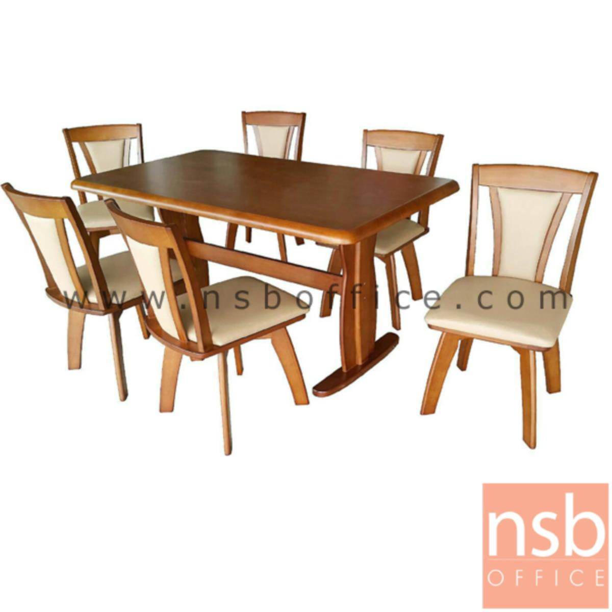 G14A106:ชุดโต๊ะรับประทานอาหาร ไม้ยางพารา 6 ที่นั่ง