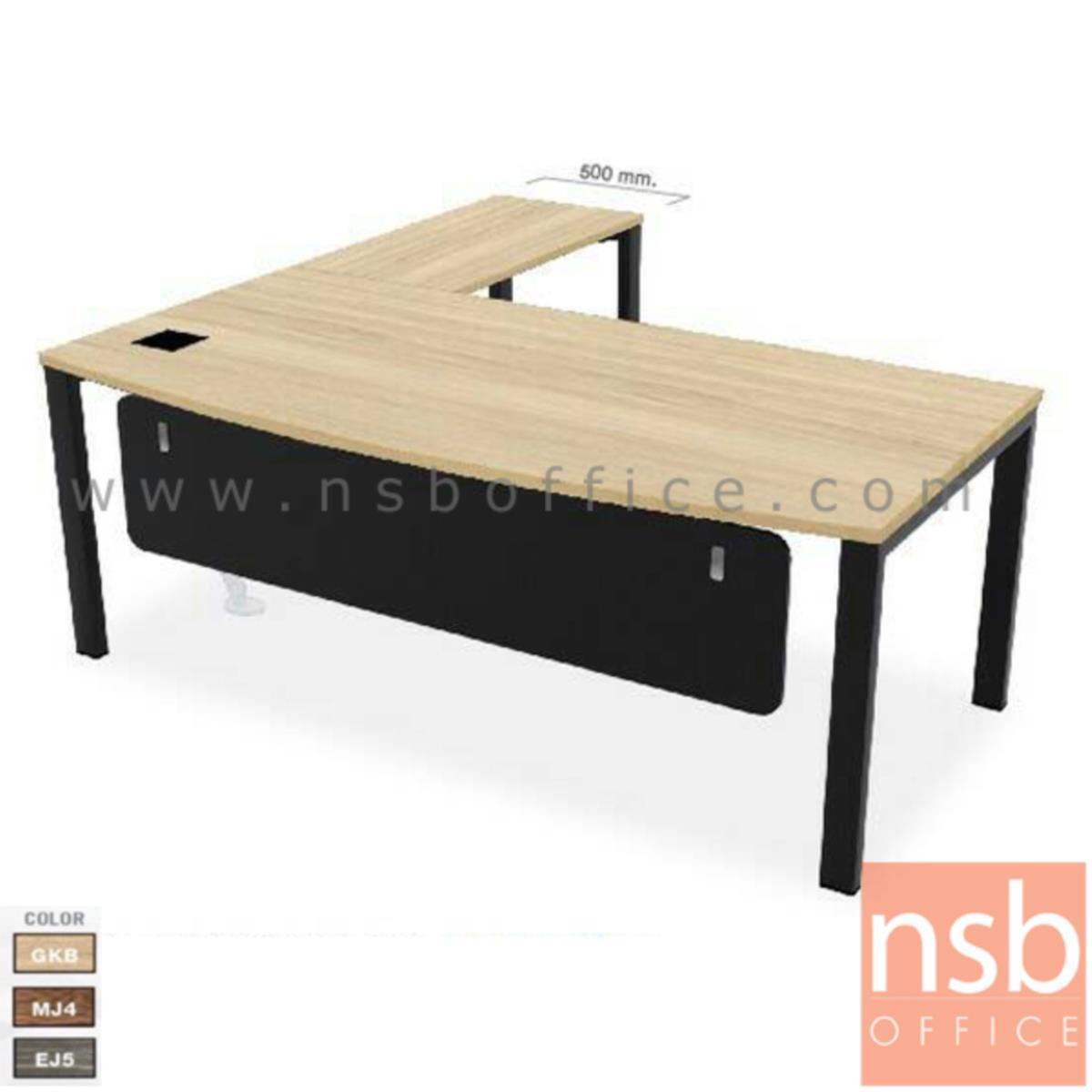A16A067:โต๊ะทำงานตัวแอล  รุ่น TYN-0202 ขนาด 200W cm. พร้อมป๊อบอัพ ขาเหล็ก
