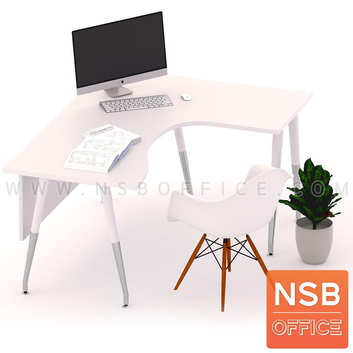 โต๊ะทำงานตัวแอล รุ่น Moonrise (มูนไรซ์)  ขนาด 160W*180W cm. ขาเหล็กปลายเรียว