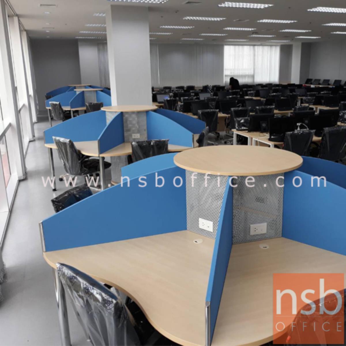 A04A013:ชุดโต๊ะทำงานกลุ่ม 6 ที่นั่ง   ขนาด 265W1*265W2 cm.