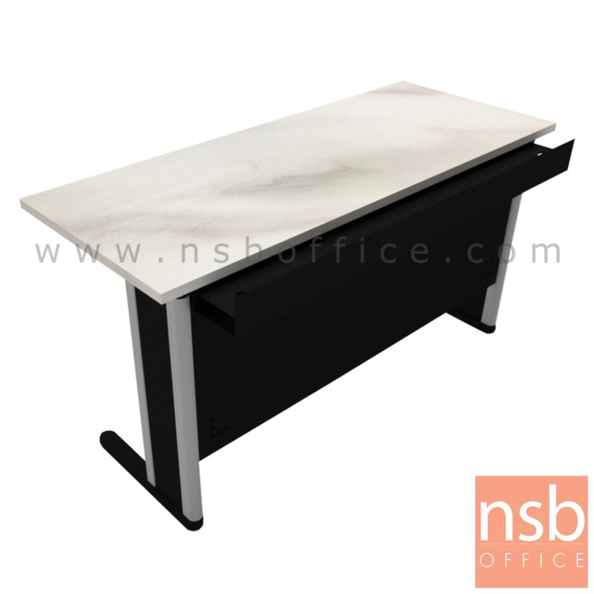 A18A100:โต๊ะประชุมตรง  ขนาด 150W,180W,210W cm. พร้อมบังตาเหล็ก และที่วางจอ