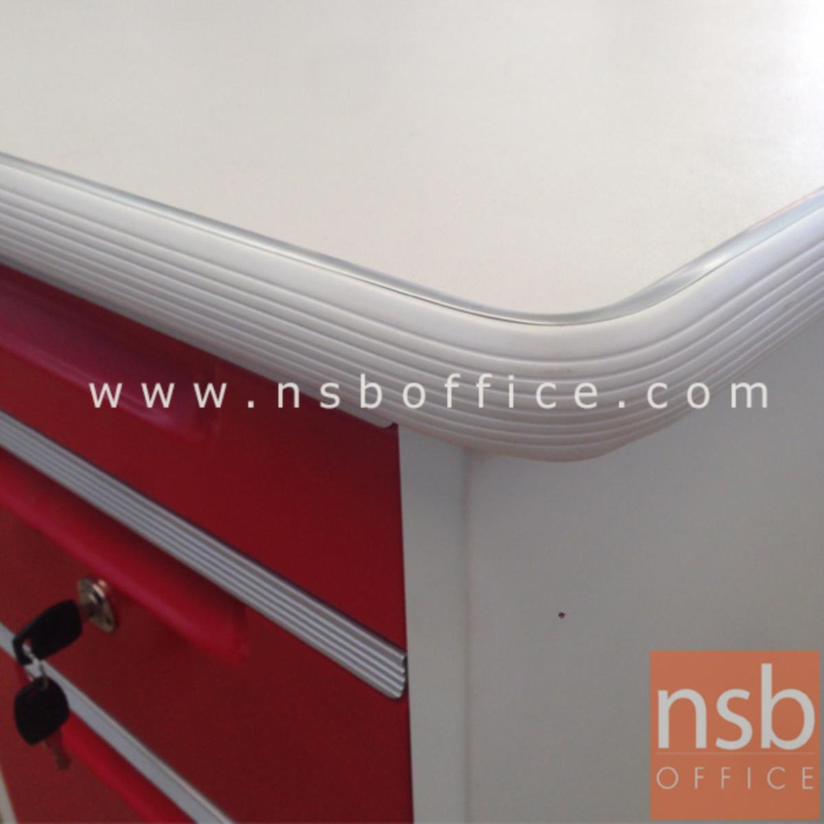 โต๊ะทำงานเหล็กสีสัน 4 ลิ้นชัก  รุ่น OD-40,OD-35 ขนาด 3.5 ฟุต, 4 ฟุต