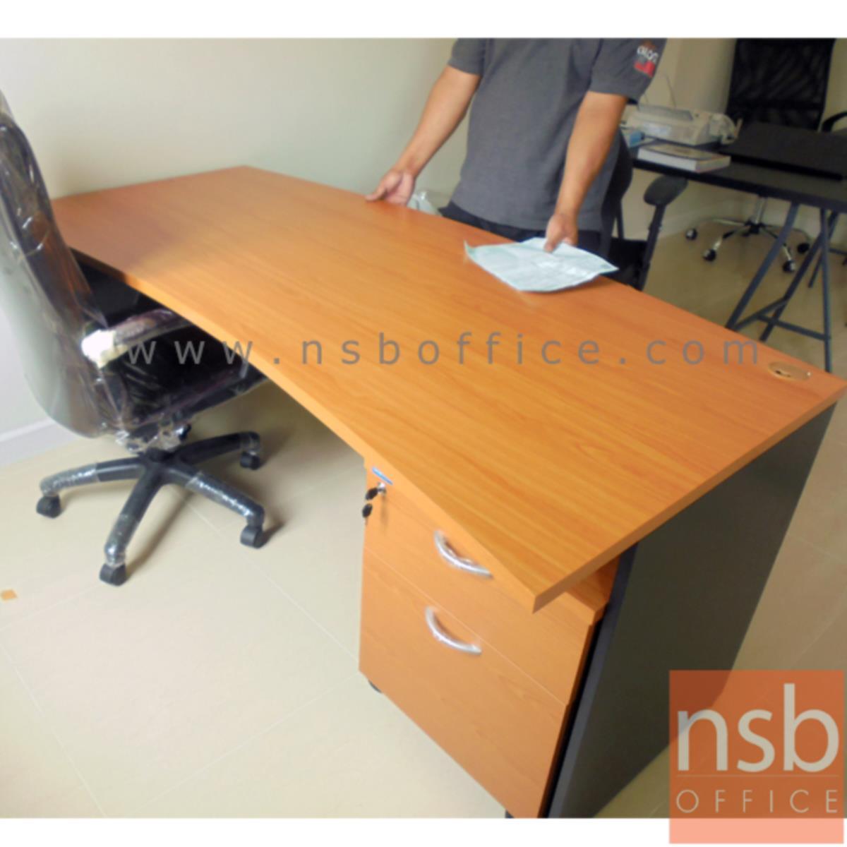 โต๊ะผู้บริหารหน้าโค้งเสี้ยวพระจันทร์  รุ่น Chandos (แชนดอส) ขนาด 180W cm. สีเชอร์รี่ดำ