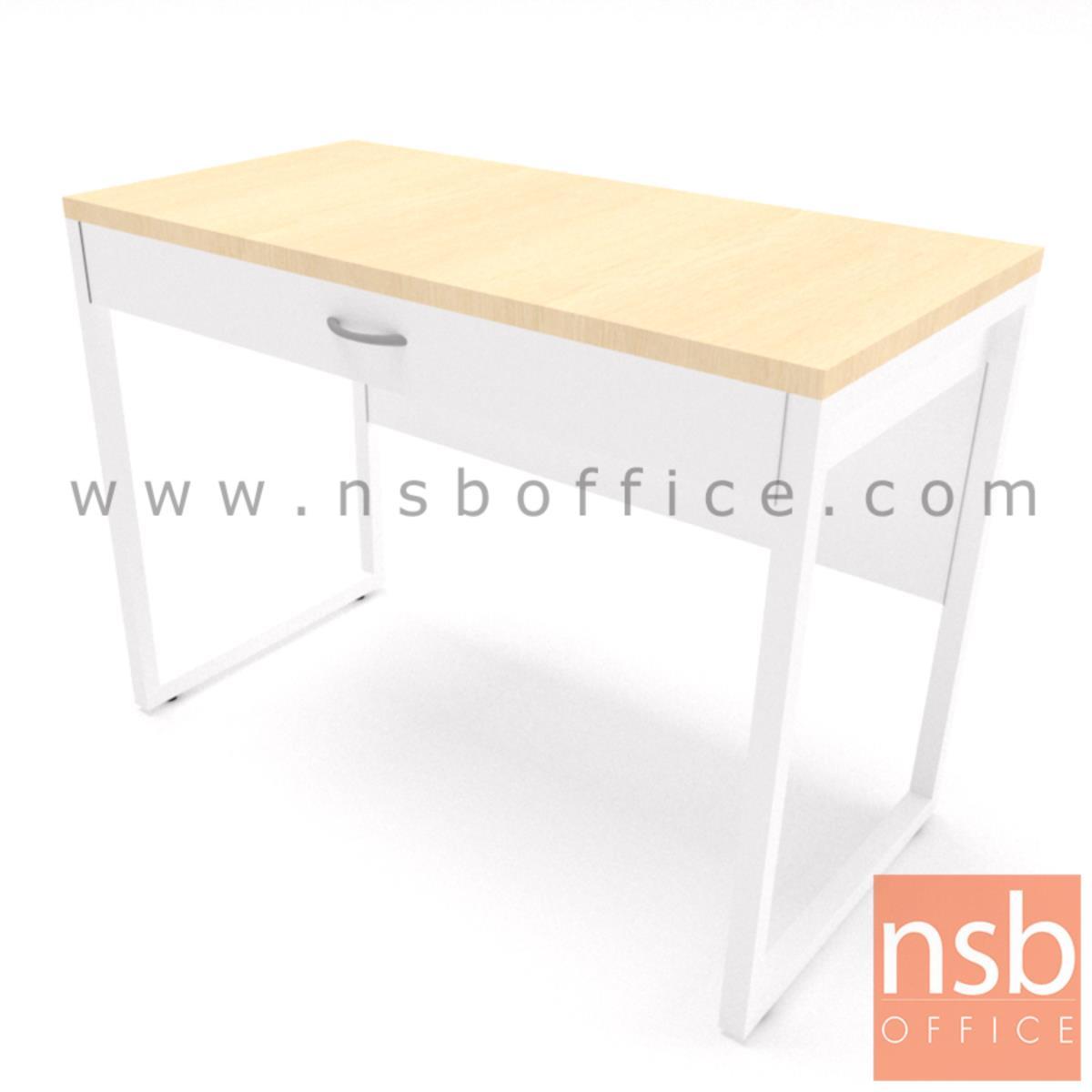 A10A093:โต๊ะทำงาน 1 ลิ้นชัก รุ่น Marie (มารียา) ขนาด 80W, 100W cm. ขาเหล็ก