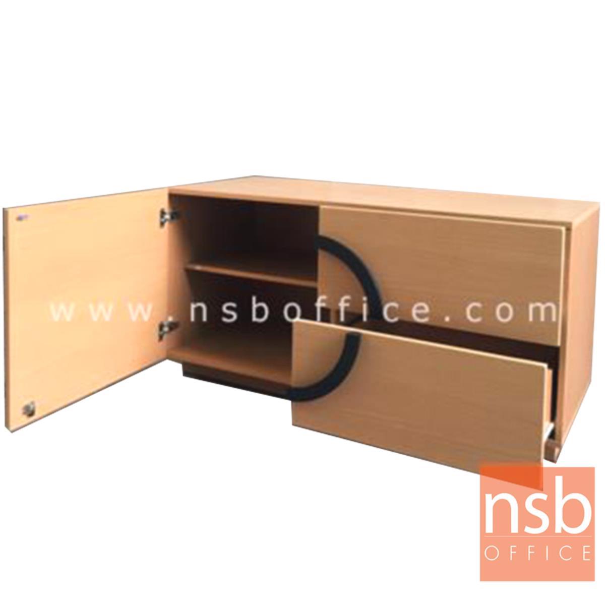 ไซด์บอร์ดวางทีวี 2 ลิ้นชัก+1 บานเปิด  ขนาด 121W*60H cm.